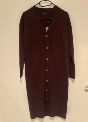 Massimo Dutti Gebreide jurk bordeaux Wol