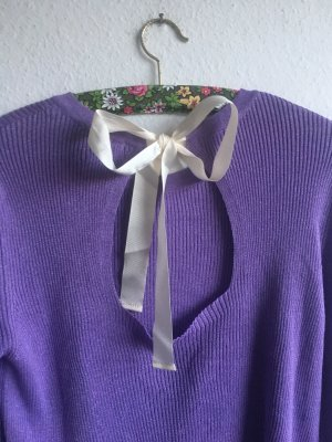 Massimo Dutti Geribd shirt paars-lila