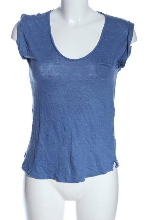 Massimo Dutti Strickshirt blau meliert Casual-Look