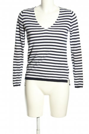 Massimo Dutti Knitted Jumper white-black striped pattern casual look