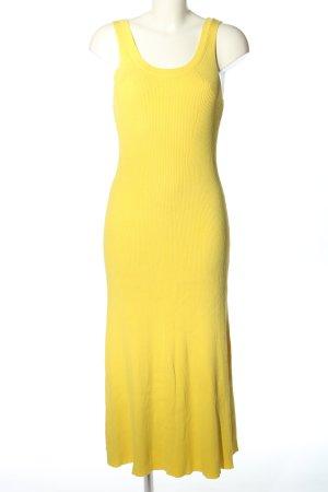 Massimo Dutti Robe Sweat jaune primevère style décontracté