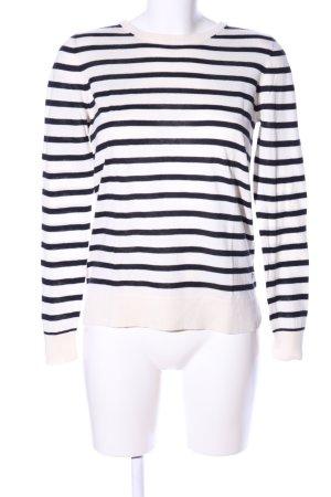 Massimo Dutti Sweatshirt weiß-schwarz Allover-Druck Casual-Look