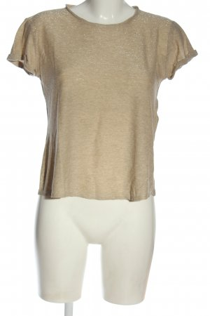 Massimo Dutti T-Shirt nude meliert Casual-Look