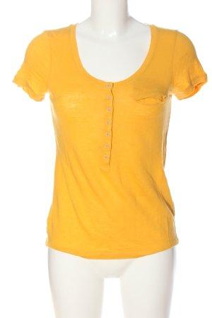 Massimo Dutti T-Shirt blassgelb Casual-Look
