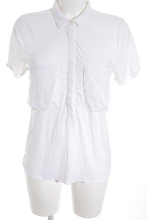 Massimo Dutti T-Shirt weiß Casual-Look