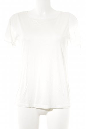 Massimo Dutti T-Shirt wollweiß Casual-Look