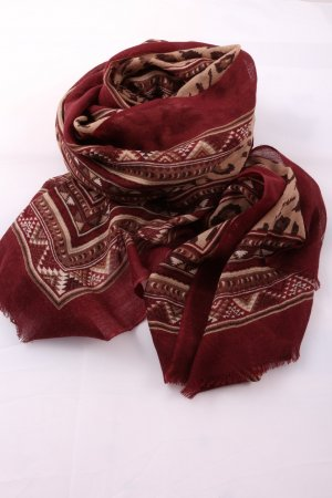 Massimo Dutti Traditional Scarf allover print casual look
