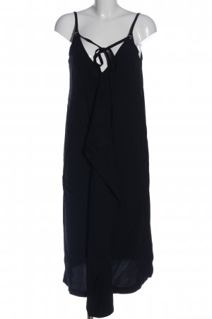 Massimo Dutti Trägerkleid schwarz Casual-Look
