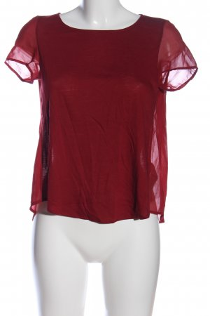 Massimo Dutti Transparenz-Bluse rot Casual-Look