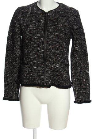 Massimo Dutti Blazer Tweed negro moteado look casual