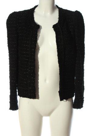 Massimo Dutti Blazer Tweed negro look casual