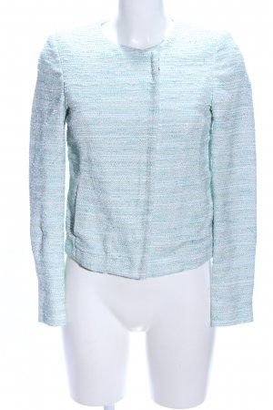 Massimo Dutti Tweed Blazer turquoise flecked business style