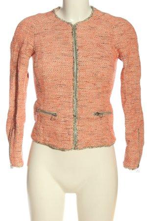 Massimo Dutti Tweedblazer pink meliert Casual-Look