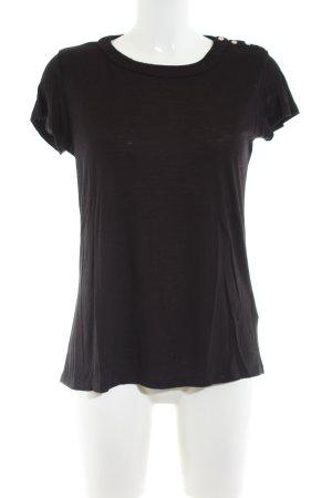 Massimo Dutti U-Boot-Shirt schwarz Casual-Look