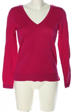 Massimo Dutti V-Ausschnitt-Pullover pink Casual-Look