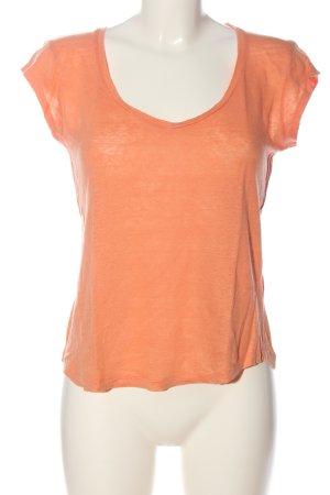 Massimo Dutti V-Neck Shirt light orange flecked casual look