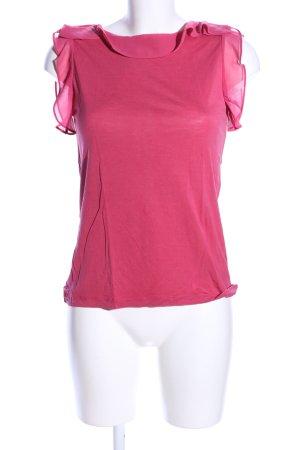 Massimo Dutti Top con balze rosa stile casual