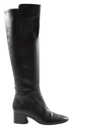 Massimo Dutti Wide Calf Boots black casual look