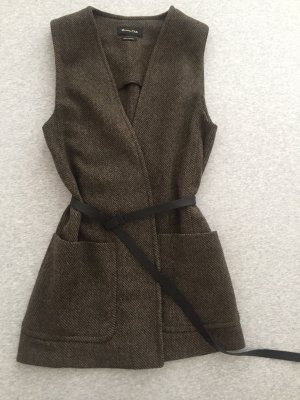 Massimo Dutti Reversible Vest brown-green grey