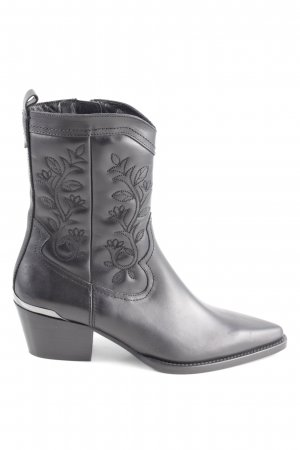 Massimo Dutti Western Booties black casual look