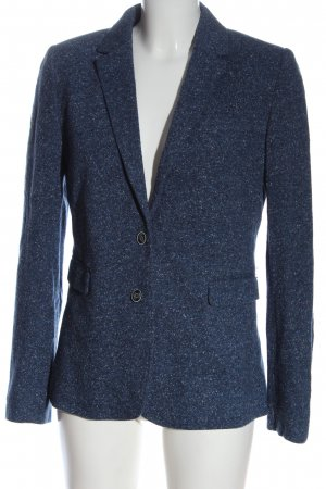 Massimo Dutti Woll-Blazer blau meliert Business-Look