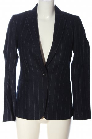 Massimo Dutti Woll-Blazer blau Streifenmuster Casual-Look