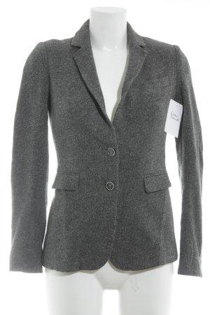 Massimo Dutti Woll-Blazer grau-weiß meliert Zierknöpfe