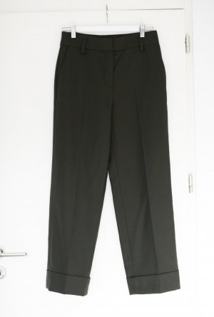 Massimo Dutti Woolen Trousers dark green wool