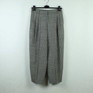Massimo Dutti Pantalón de lana negro-blanco Lana