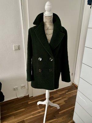 Massimo Dutti Wollmantel dunkelgrün