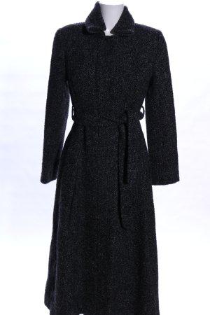 Massimo Dutti Manteau en laine noir moucheté style décontracté