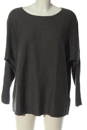Massimo Dutti Jersey de lana gris claro moteado look casual