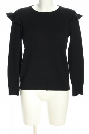 Massimo Dutti Wollpullover schwarz Business-Look