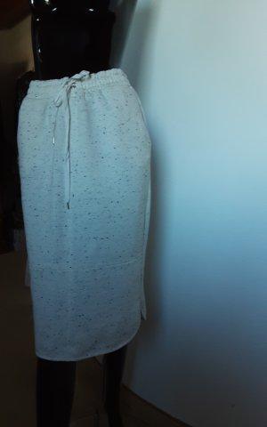 Massimo Dutti Midi Skirt black-natural white