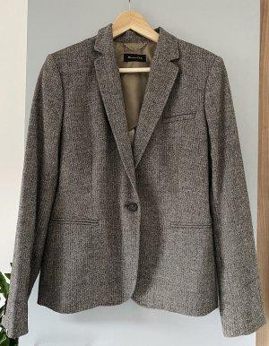 Massimo Dutti Blazer in lana talpa-marrone-nero Lana