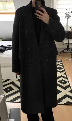 Massimo Dutti Zweireiher Mantel anthrazit 42 NEU
