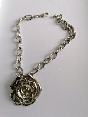 Massiv, Metall, Collier, Halskette, Rose, Rosenkette, Gliederkette,