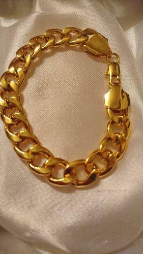 Massive Armband 22 cm/12 mm Hartvergoldet