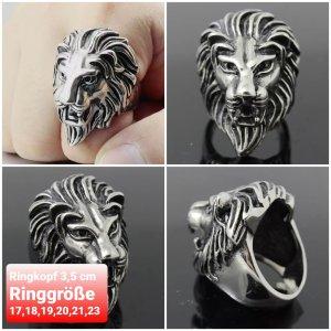 Massiver Löwenkopf Ring aus Chirurgenstahl