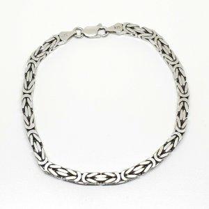 Massives Königsarmband aus 925 Silber Königskette Silberarmband