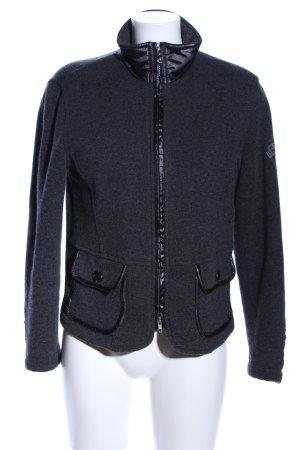 Masters Chaqueta de lana gris claro moteado elegante