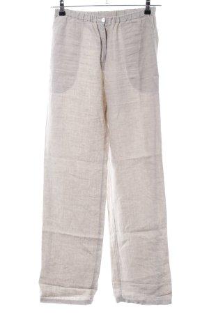 Pantalón de lino gris claro look casual