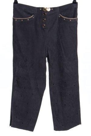 mat. Pantalon en cuir noir style décontracté