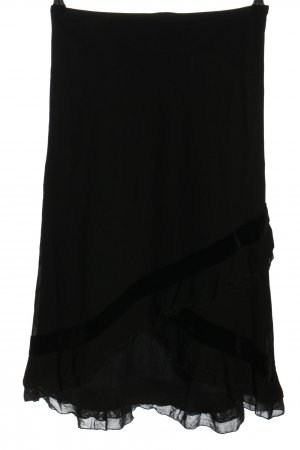 Mat Sui Falda stretch negro look casual