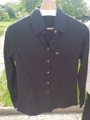 Matchless London Bluse, Hemd, Belstaff Nachfolger, schwarz, Grösse 38, IT42