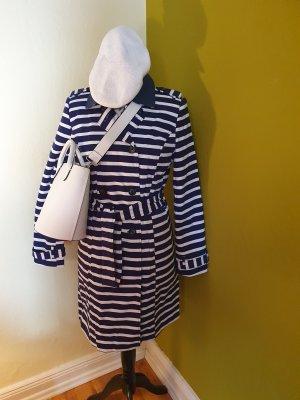 Naf naf Trench Coat white-dark blue