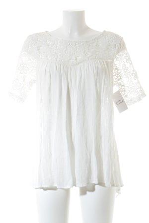 Matelli Gehaakt shirt wit casual uitstraling