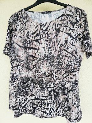 Material-Mix-Shirt mit Tierfellprint in taupe/creme/schwarzbraun von Betty Barclay