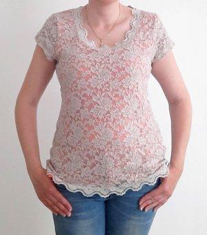 Street One Crochet Shirt cream-pink