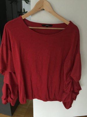 Vero Moda Camisa tipo Carmen rojo Algodón